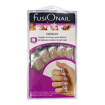 Fusionail Kit uñas decoradas medianas autoadhesivas e120 24 ud
