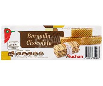 Auchan Barquillos Sabor Chocolate 200 Gramos