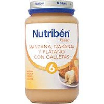 Nutribén Potito de manz.-naranja-plát.-galleta 250 g