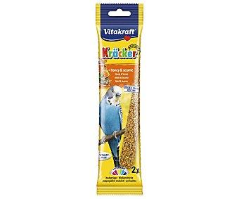 Vitakraft Barritas para Periquitos con sabor a miel 60 gramos