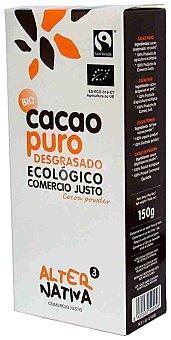 Alternativa 3 Cacao puro bio desgrasado ecológico sin lactosa ni gluten estuche 150 g Estuche 150 g