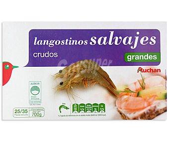Auchan Langostinos crudos grandes 25/35 piezas 700 gramos