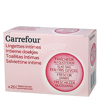 Carrefour Toallitas íntimas con colágeno 20 ud
