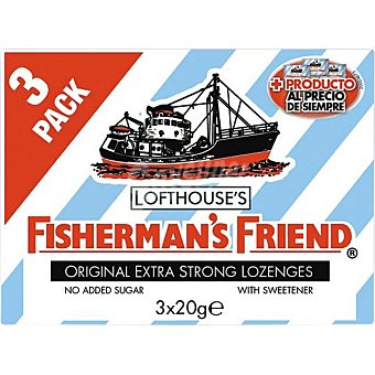 Fisherman´s Friend Extra fuerte chicles sin azúcar Original Pack 3x20g