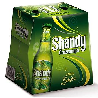 Cruzcampo Cerveza Cruzcampo Shandy con limón Pack de 6 botellas de 25 cl