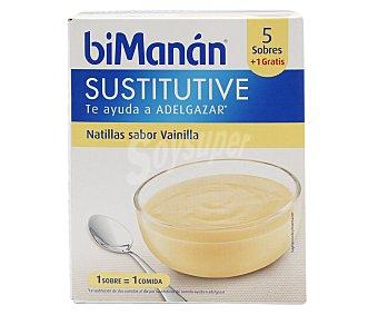 Bimanan Natillas sabor vainilla, Sustitutive 5 x 50 g