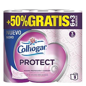 Colhogar Papel higiénico protect 9 rollos