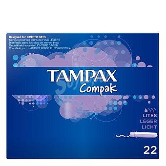 Tampax Tampones Compak Lites 22 ud