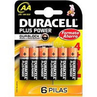 AA BL6 DURACELL Pila Plus Power Pack 4+2 unid