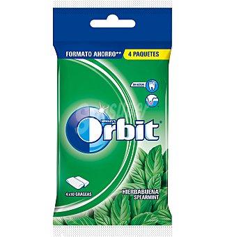 Orbit Chicle hierbabuena sin azúcar 4 unidades