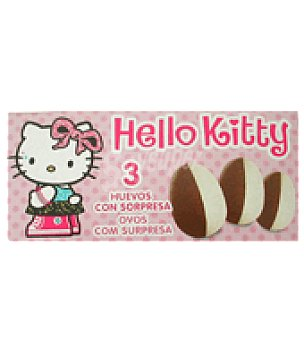 Hello Kitty Pack de 3 huevos de chocolate con sorpresa Hello Kitty Pack de 3x20 g