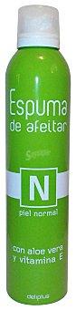 Deliplus Espuma afeitar piel normal (aloe vera, vitamina E) Bote 300 cc