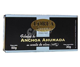 Lorea Filetes de anchoa ahumada en aceite de oliva 30 Gramos