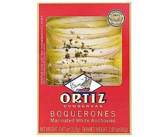 Ortiz Boquerones en vinagre Bandeja 80 g neto escurrido
