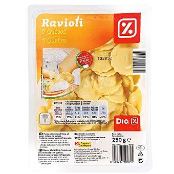 DIA Ravioli 5 quesos bandeja 250 gr