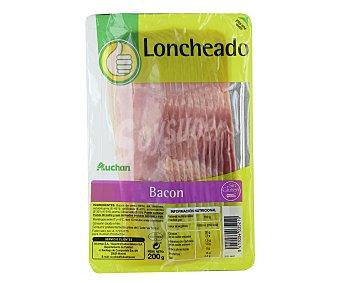 Productos Económicos Alcampo Bacon, sin gluten y sin lactosa, cortado en lonchas 180 gr