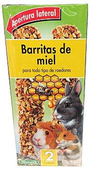 Natura Comida roedores barrita miel Caja de 2 uds