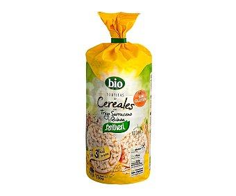 Santiveri Tortitas de cereales sin gluten, con trigo sarracenos y quinoa 130 g