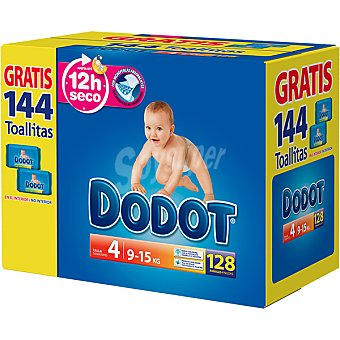 Dodot Pañales de 9 a 15 kg talla 4 caja 128 unidades 4 caja 128 unidades