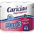 Papel higiénico Maxi3 Paquete 4 rollos Caricias