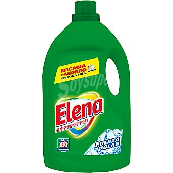 Elena Detergente máquina líquido Fuerza Polar Botella 40 dosis