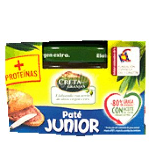 Creta Granjas Paté junior con aceite de oliva 85 g