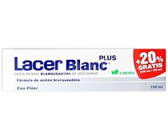 LACER Blanc Dentífrico blanqueador con flúor sabor menta 150 Mililitros