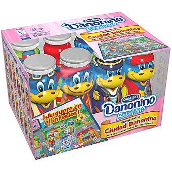 Danonino Danone Bebedino petit líquido sabor fresa con... pack 8 unidades 100 g