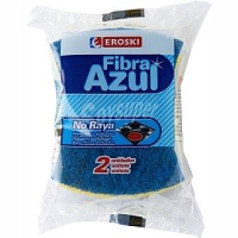 Eroski Estropajo con esponja antibacterias Pack 1 unid