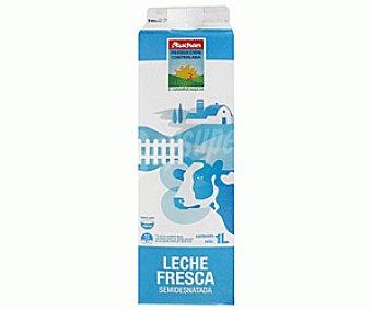 Auchan Producción Controlada Leche Fresca Semidesnatada 1L