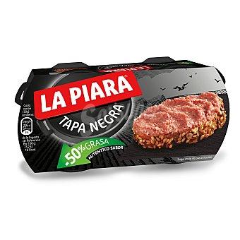 La Piara Tapa Negra Paté -50% Grasa 2 latas de 73 g