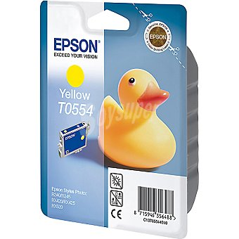 EPSON Stylus Photo T0554 Cartucho de tinta color amarillo