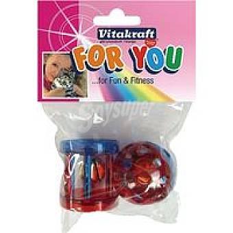 For You Vitakraft Bola-rodillo con cascabel para gato Bolsa 2 unid