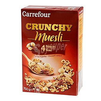 Carrefour Crunchy muesly 4 nueces 750 g