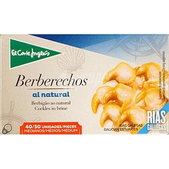 EL CORTE INGLES Berberechos al natural de las rías gallegas 40-50 piezas  lata 63 g neto escurrido