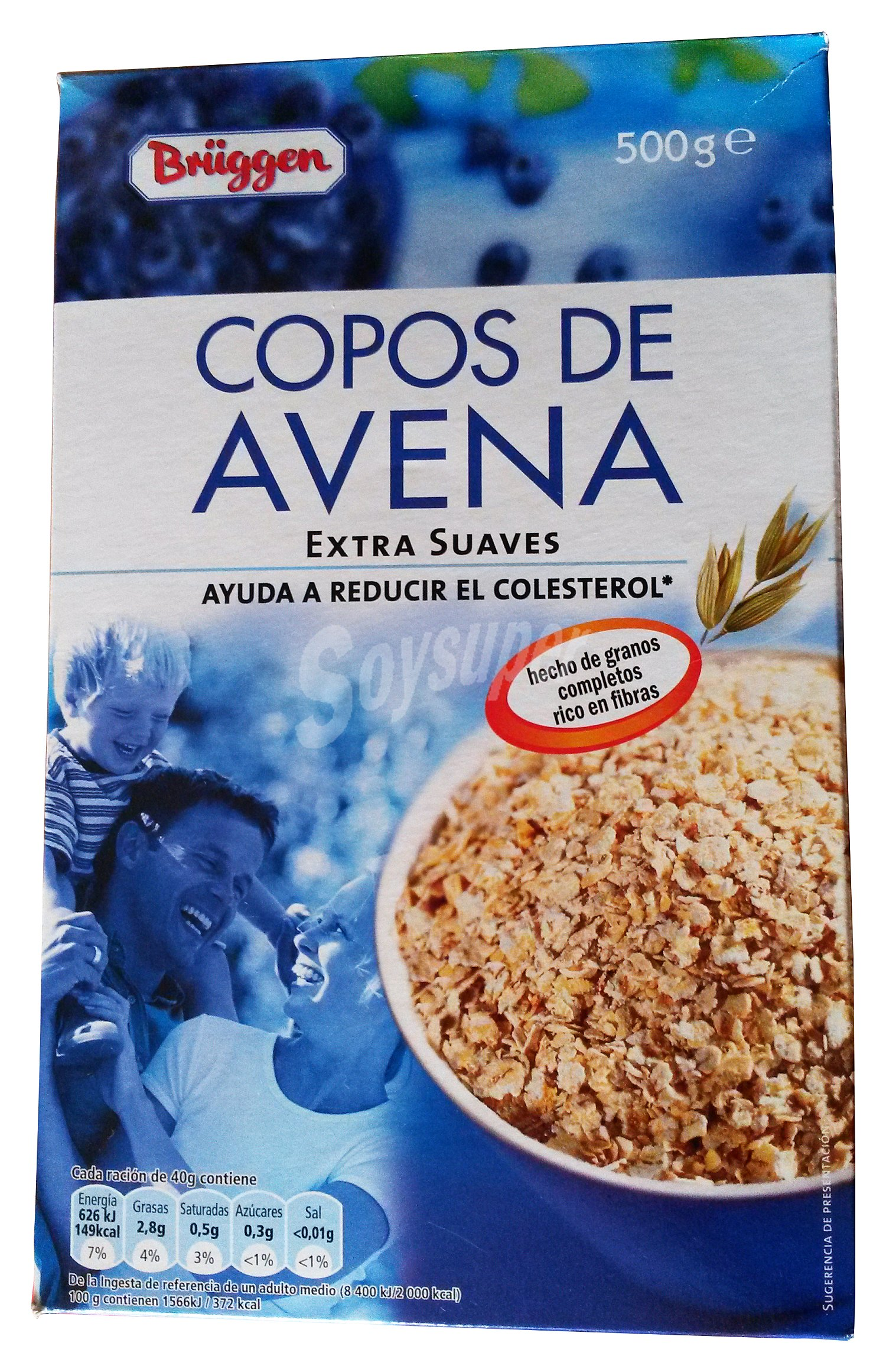 Br ggen cereal copos avena caja 500 g - Copos de avena bruggen ...