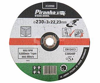 PIRANHA Disco de Corte para Madera de 230 Milímetros de Diámetro 1 Unidad