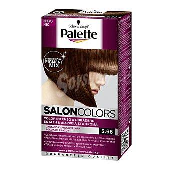 Palette Tinte Salón Colors 5,68 Castaño Claro Avellana 1 ud