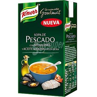 Knorr Sopa de pescado con mejillones Los momentos Gourmet Envase 500 ml