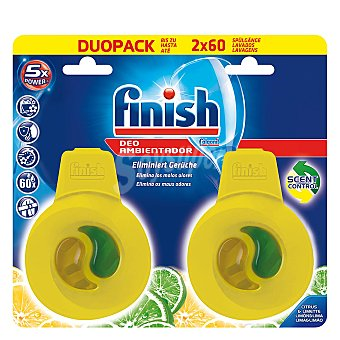 Finish Ambientador de lavavajillas aroma limón y lima 1 ud 1 ud