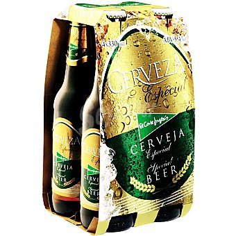 El Corte Inglés Cerveza rubia nacional especial Pack 4 botellas 33 cl