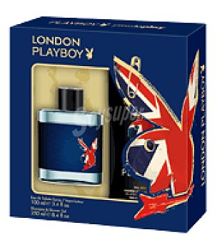 PlayBoy Estuche Colonia London spray 100 ml. + gel 250 ml. 1 ud