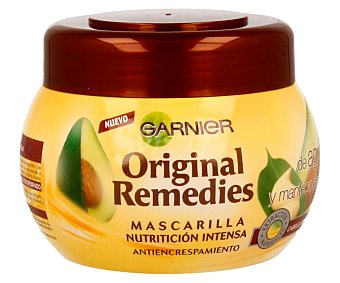 Garnier Mascarilla antiencrespamiento con aceite de aguacate y manteca de karité para cabello rebelde y difícil de controlar 300 mililitros