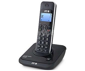 TELECOM 7243 Teléfono inalámbrico Detc SPC Negro, identificador de llamadas, manos libres, pantalla iluminada en azul, agenda para 20 contactos.