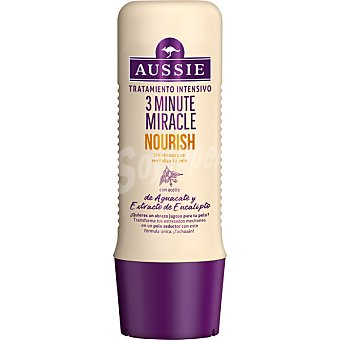 Aussie Mascarilla 3 Minute Miracle Nourish para cabello seco con extracto de eucalipto Frasco 250 ml