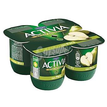 Activia Danone Yogur con pera pack 4 unidades 125 g
