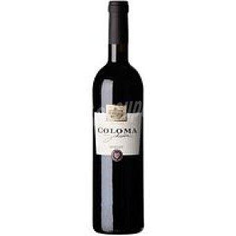 Coloma Vino Tinto Crianza Merlot Botella 75 cl