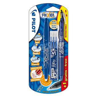 Bolígrafo Ball Azul + Recambios 4 ud