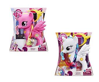 MY LITTLE PONY Surtido de Pony Princesas con el pelo de colores, 20 centímetros de alto, incluye peine, pony y corona 1 unidad
