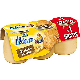 La Lechera Nestlé galleta María envase 135 g + 1 gratis pack 2 unidades